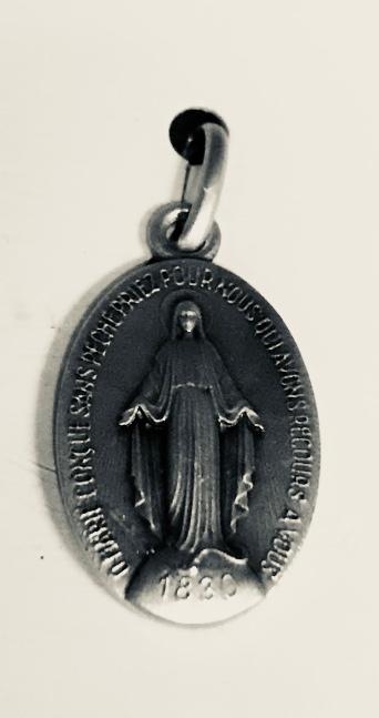 <b>Wonderdadige Medaille  </b><p>ovaal <p><b>echt zilver</b></p>